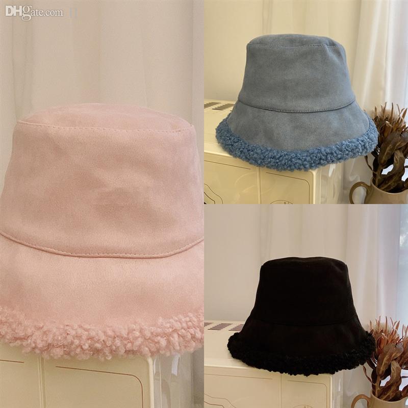 OoA7J Mujeres Grander Cordero Pesca Mantenga cálido Retro Peluche Sombrero de doble caras Sombro Brim Floppy otoño e invierno playa sombrero protección sol anti-UV