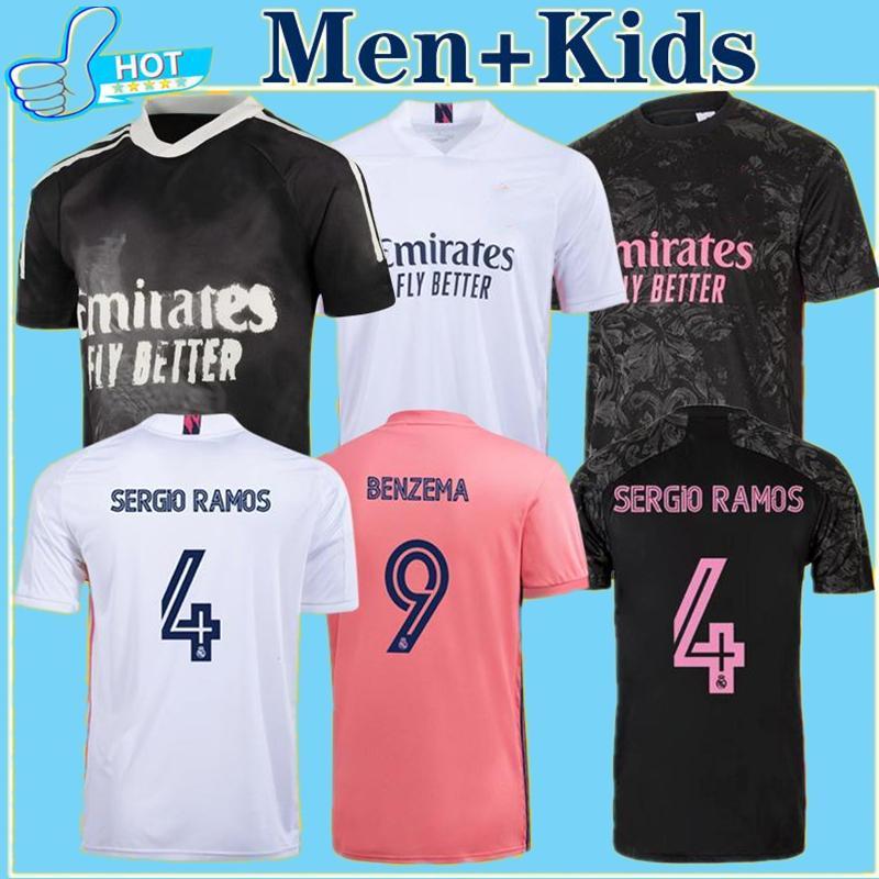20 21 لاعب نسخة ريال مدريد سباق الإنسان مجموعة كرة القدم الفانيلة valverde rodrgo camiseta 2020 2021 vini لكرة القدم قميص الرجال + أطفال كيت