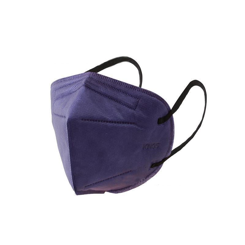 Visage K95 non tissé Masque jetable à la poubelle à la poubelle Respirant Respirateur Masques de protection Bleu Noir Blanc avec élastique