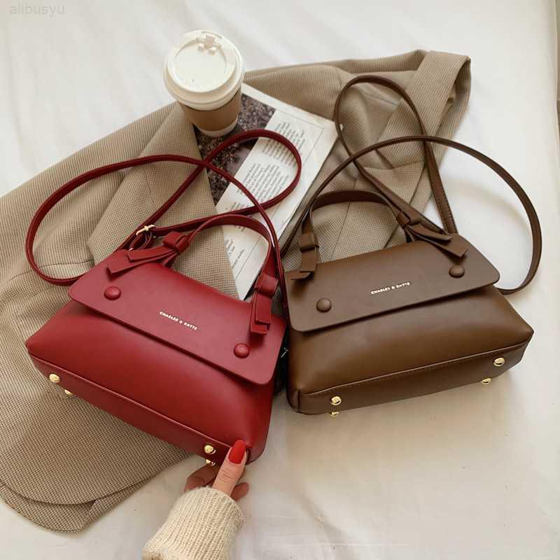 Herbst und Winter Messenger 2021 Neue Textur Kleine Square Bag Mode Frauen Tragbare Schulter Handtasche