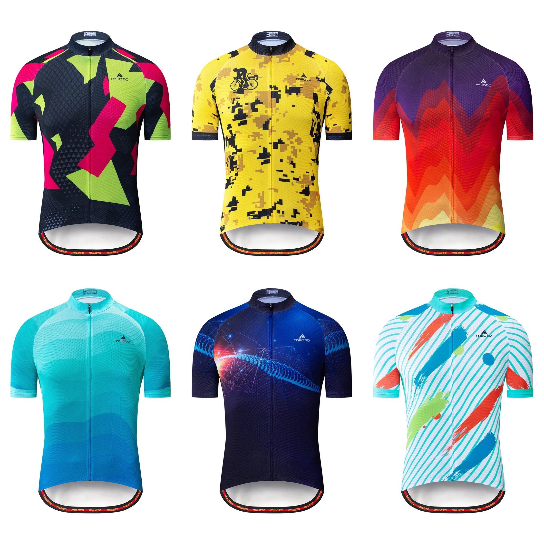 Neue 2021 Sommer Herren Radfahrer Trikots Kurzarm Bike Shirts MTB Fahrrad Jeresy Radfahren Kleidung Tragen ROPA MAILLT CICLISMO