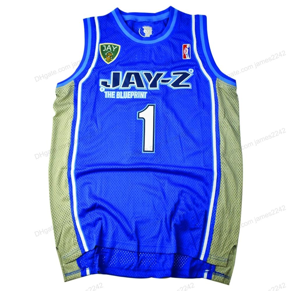 Benutzerdefinierte Blaupause # 1 HOV Basketball Jersey Herren genäht Blau Jede Größe 2xs-5XL Name oder Anzahl Top-Qualität