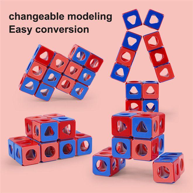 Erleuchtung von Kindern Erleuchtung Spielzeug Baustein Raum Rubik's Cube Puzzle DIY Baustein Rubik's Cube Shaped Building Block
