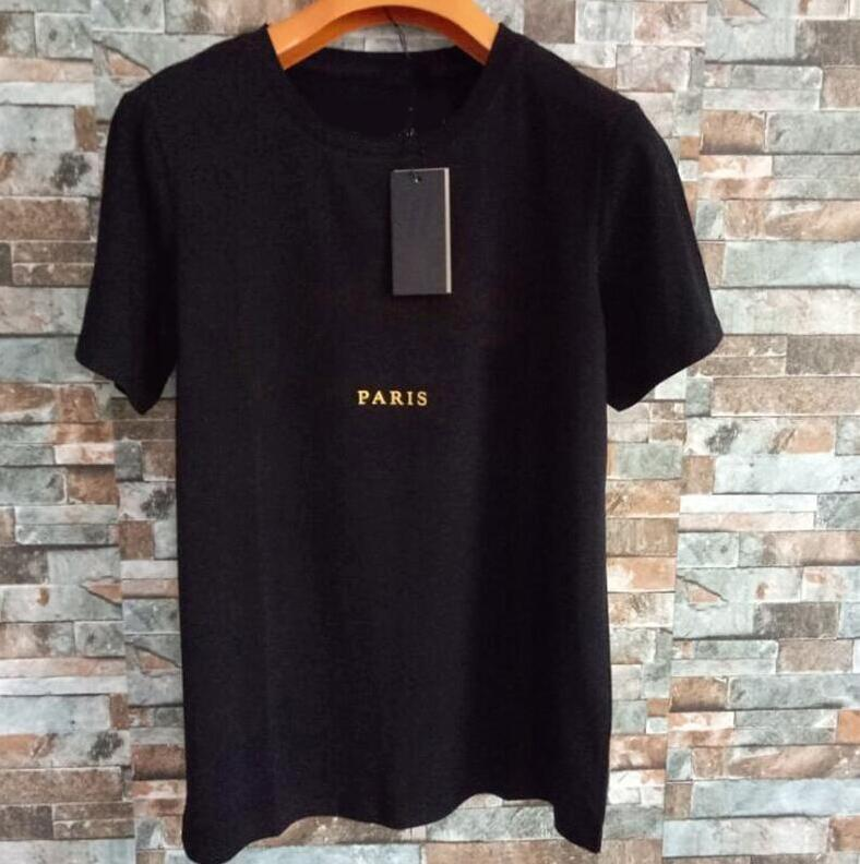 Summer Hommes Femme Design T-shirts Noir Blanc Blanc Fashion T-shirts avec lettres Chaude Vente Tops Hommes et femmes Chemise occasionnelle S-XXL