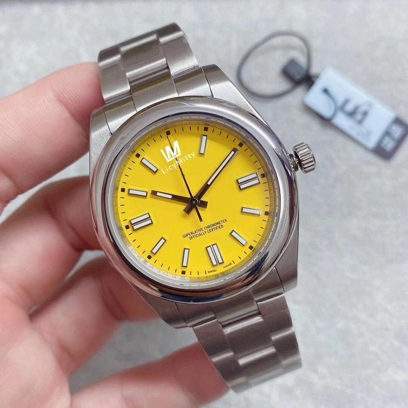 2020 U1 Fabrik Herrenuhr Automatisches mechanisches Saphirglas Solid Edelstahl 41mm Mode Gelb Zifferblatt Männer Uhren Männliche Armbanduhren