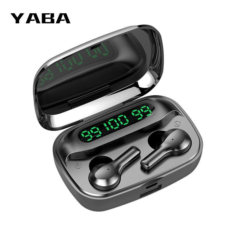 YABA беспроводные наушники 2000mAh Bluetooth наушники с микрофоном TWS Шумоподавление гарнитура Earbuds Водонепроницаемые наушники с поддержкой BLUETOOTH