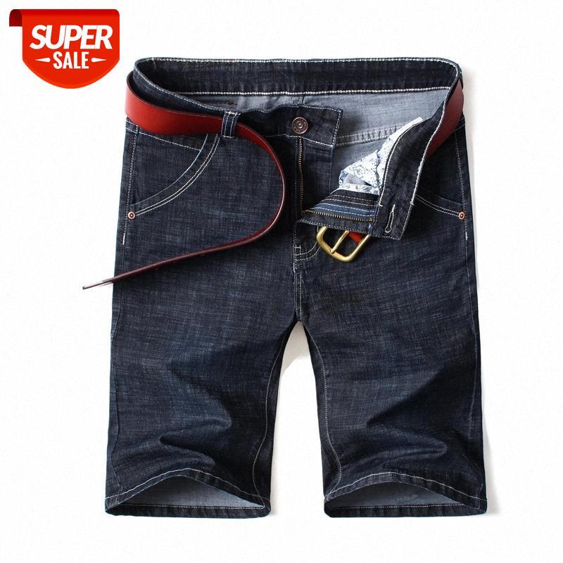 Männer Kleidung 2019 Neue Sommer Denim Baumwolle Shorts Stretch Casual Jeans Herrenkleidung Mann Kurzer Größe 42 44 46 # 3L2F