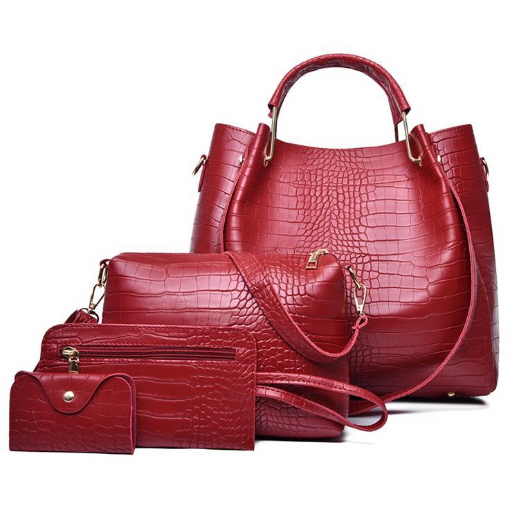Pink sugao women bags 4pcs/set Composite Bag handbags tote bag crossbody women shoulder bags high quality purse with wallet bag set