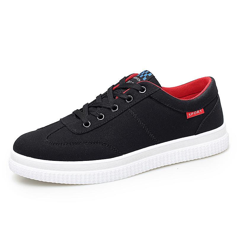 Cheap Men Women canva shoes flat shoes Black White Red Autumn Walking Luxury mens womens casual shoes