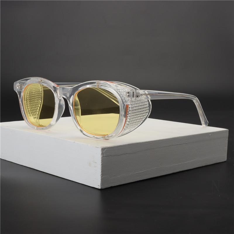 Luxus runde Sonnenbrille Frau kleine weibliche Brille Gradient Mode Marke klare gelbe Sonnenbrille Damen 2020 Retro vintage NX