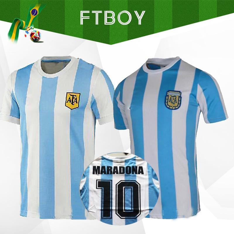 1986 الأرجنتين الرجعية لكرة القدم جيرسي مارادونا 86 خمر كلاسيكي 1978 الرجعية الأرجنتين مارادونا 78 قمصان كرة القدم مايوه camisetas دي فوتبول