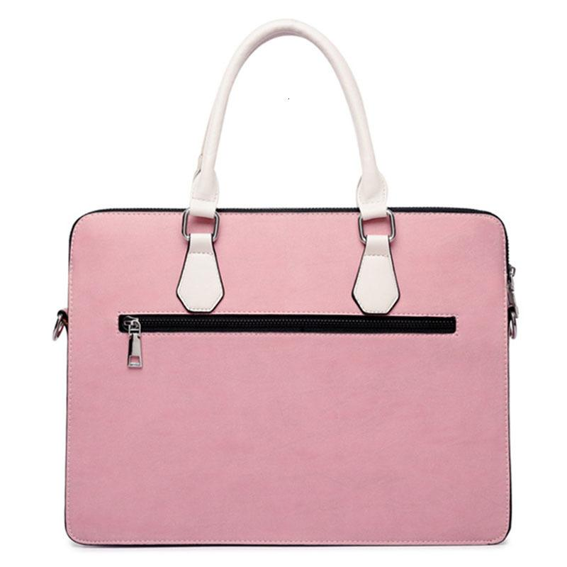 HBP Men Briefcase Women Nylon Laptop Bag Pink Black Gray Fashion Casual Shoulder Handbags Messenger Bags Q0112