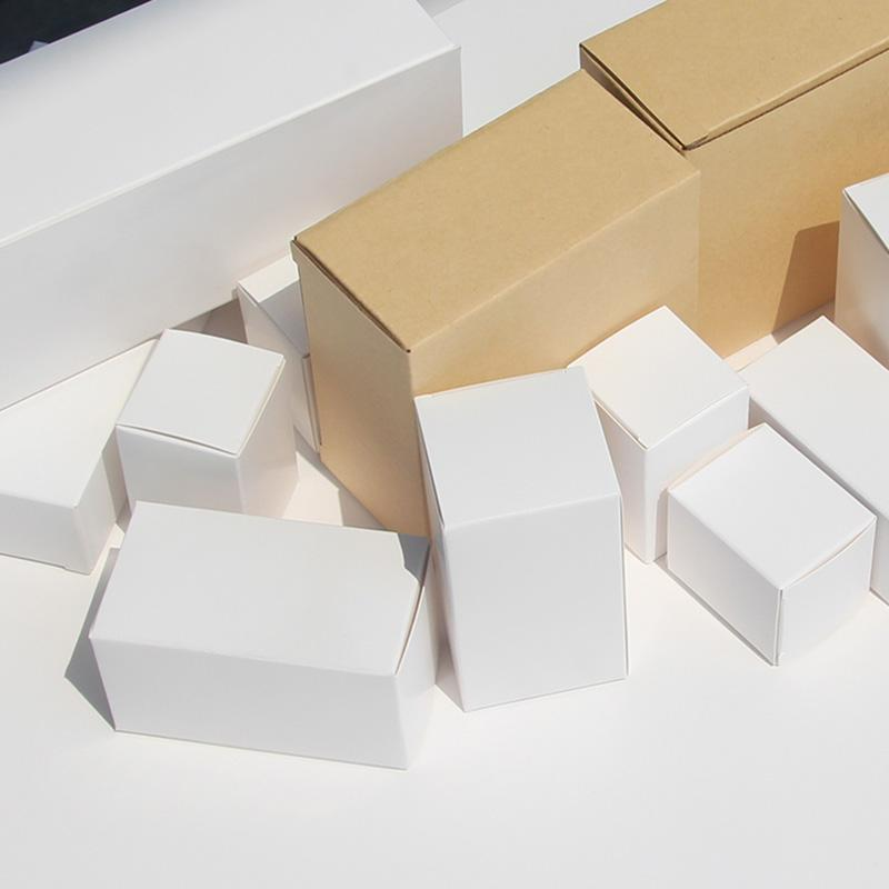 50pcs/General purpose white small gift box packaging box 350g square blank cardboard spot cosmetics color
