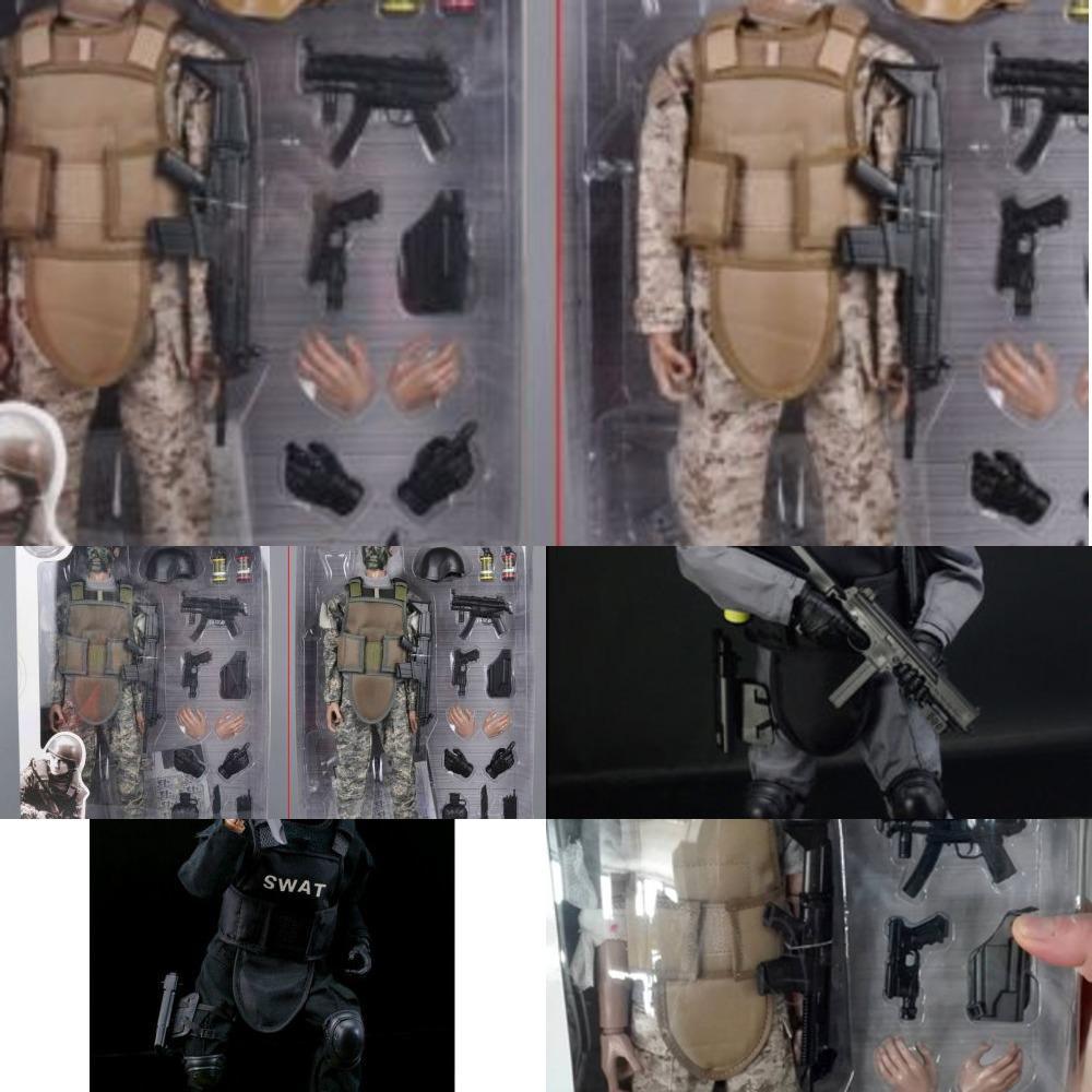 1/6 forces modèle armée militaire Combat Swat Police Soldat Soldat Action Figure Toys ou cadeau Y1130