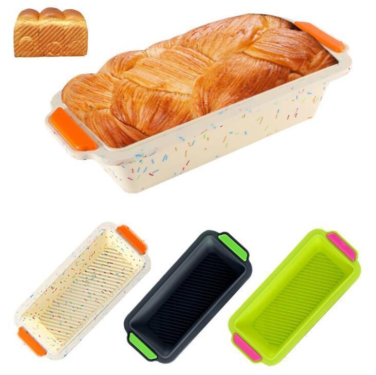 Toast Bakeware прямоугольные силиконовые формы Pans Pans Хлеб Тосты Формы для кухни Выпечки Инструменты Торт Формы дома Кухонные Напеки DHB3615