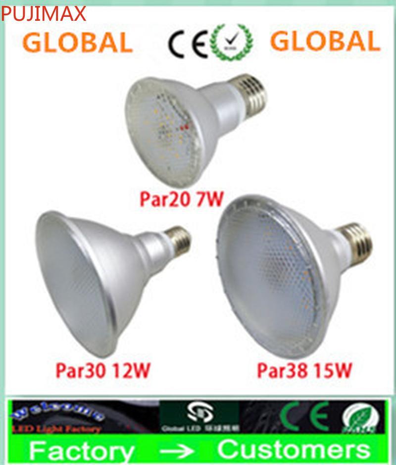 슈퍼 밝은 PAR20 PAR30 PAR38 IP65 120Degree 7W 12W 15W E27 LED 스포트 라이트 LED 램프 AC 110-240V + UL + 보증 3 년