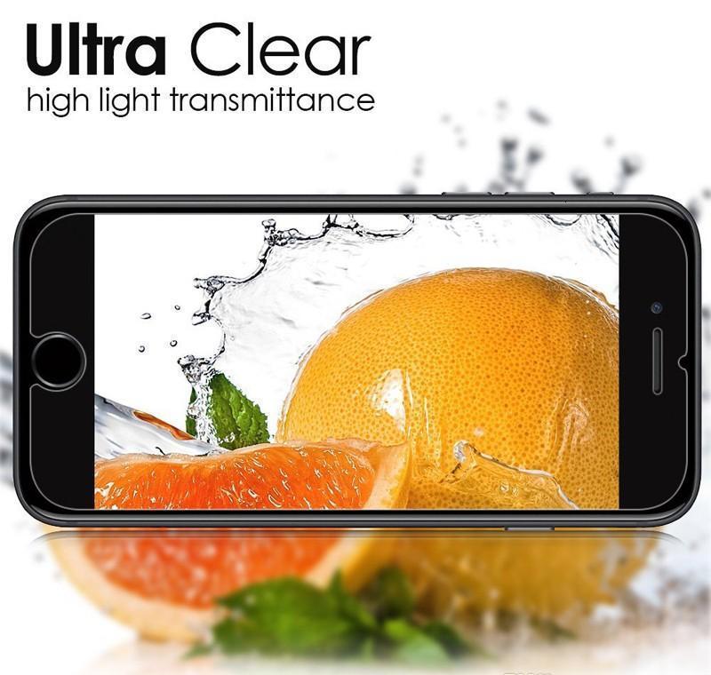 6S 9H 2.5D plus SE 6 pour x Téléphone 8 HD Température 5S Protector Screen 7 Verre SQCOO