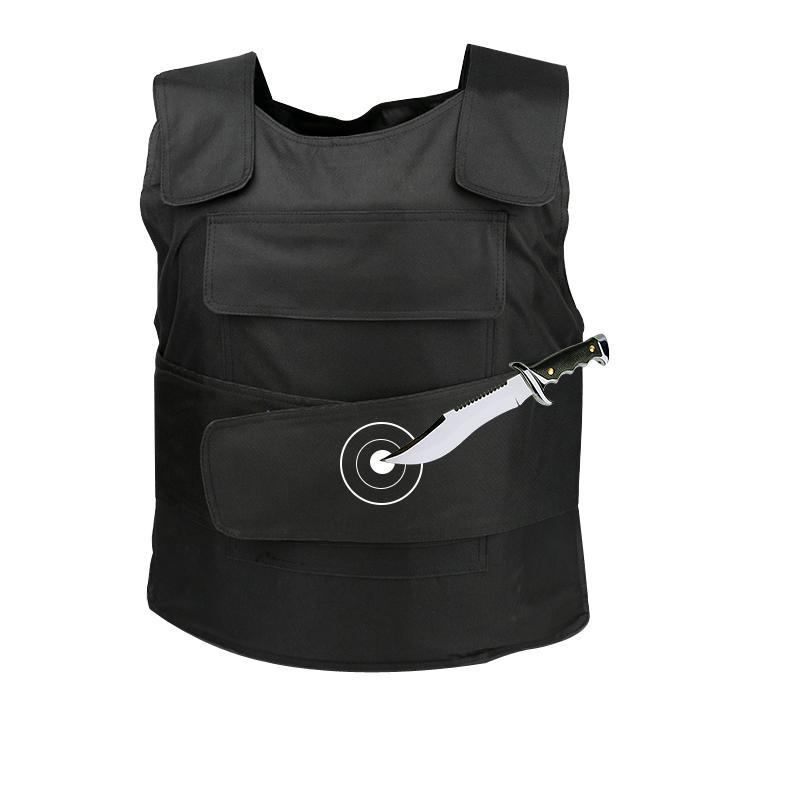10pcs / lot Hard Hard Stabproof Gilet Noir Tactique extérieure Personal Sécurité Sécurité Veste Vêtements Stab Vêtements anti-Tungstène Tungstène