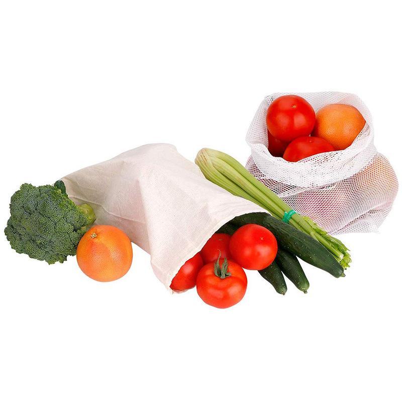 Algodão pano orgânico puro algodão rede de algodão líquido saco de armazenamento de frutas vegetais feijão de café sacos DHB3871