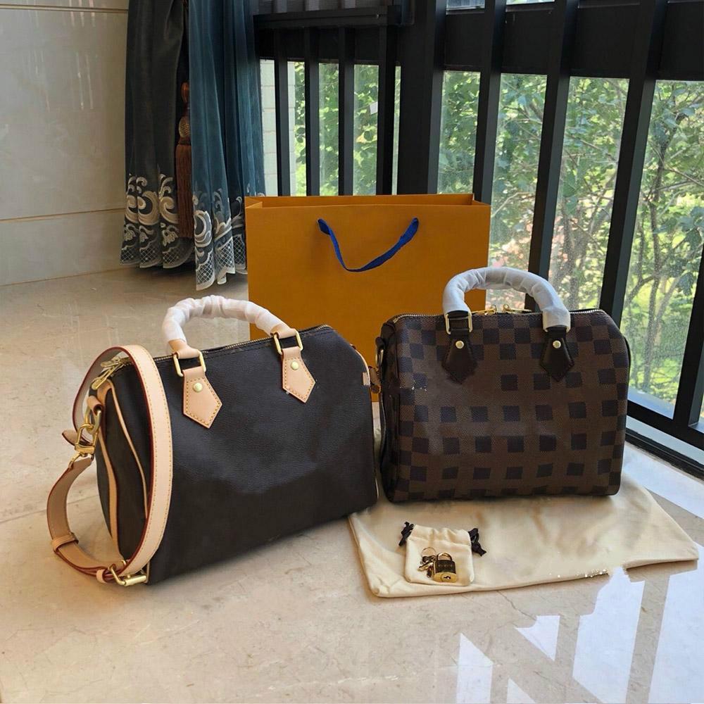 Schulter Brown Messenger Geldbörsen Anmutige Mode Echte Qualität High 2020 Tasche Leder Frauen Crossbody Marke Designer Luxurys Handtaschen RQHS