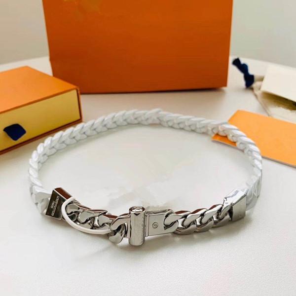 2020 Français conçu de luxe hip hop street homme et femmes bracelets Sculpture Céramique 316L Titane Steel Splicing Collier Bijoux