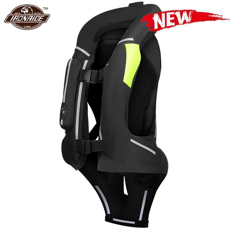 Yeni Motosiklet Hava Yastığı Yelek Erkekler Motosiklet Ceket Yansıtıcı Motocross Hava Çantası Moto Yelek Koruyucu Siyah Floresan S-3XL1
