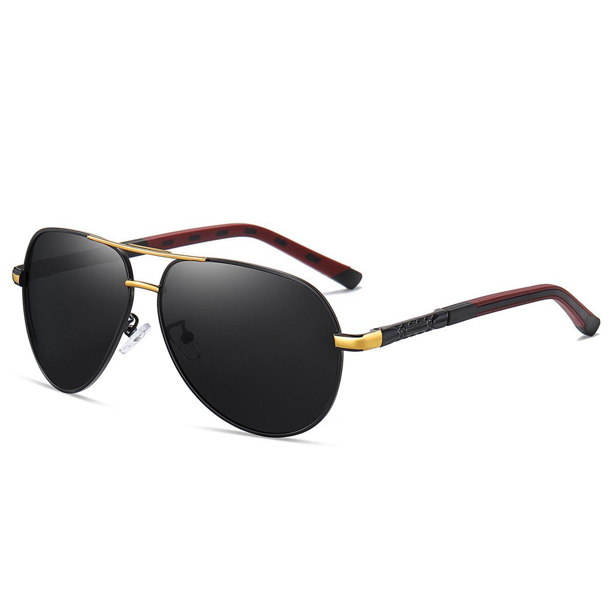 2020 Mens 패션 디자이너 여성 실버 프레임을위한 편광 된 선글라스 고품질 UV400 고글 안경 occiali da sole