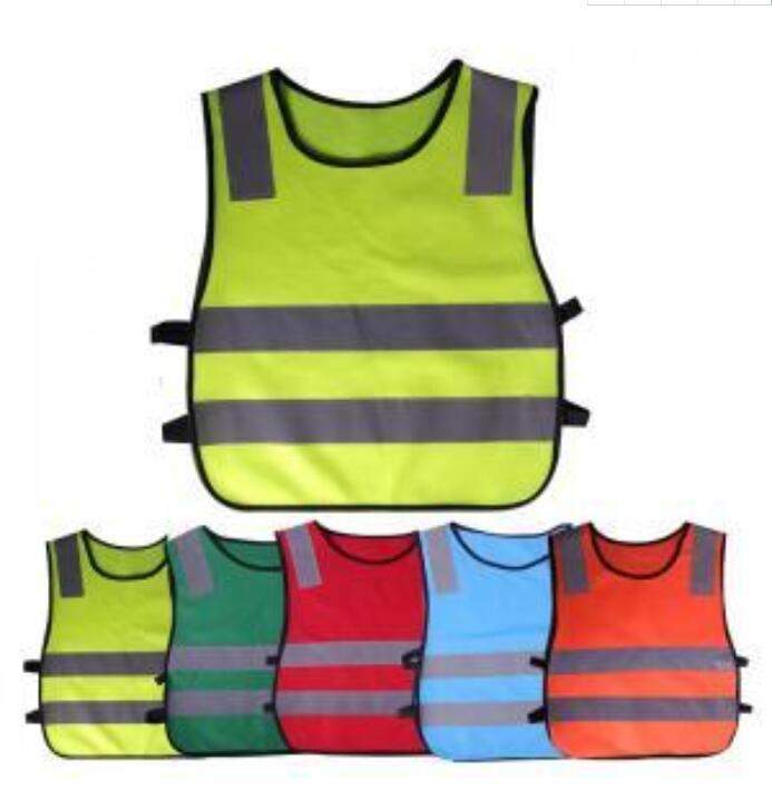 Abbigliamento per bambini Abbigliamento Riflettente Gilet Riflettenti Bambini Gilet A Prova di Visibilità Avvertimento Avvertimento Patchwork Vest Vest Strumenti di costruzione GGA1561