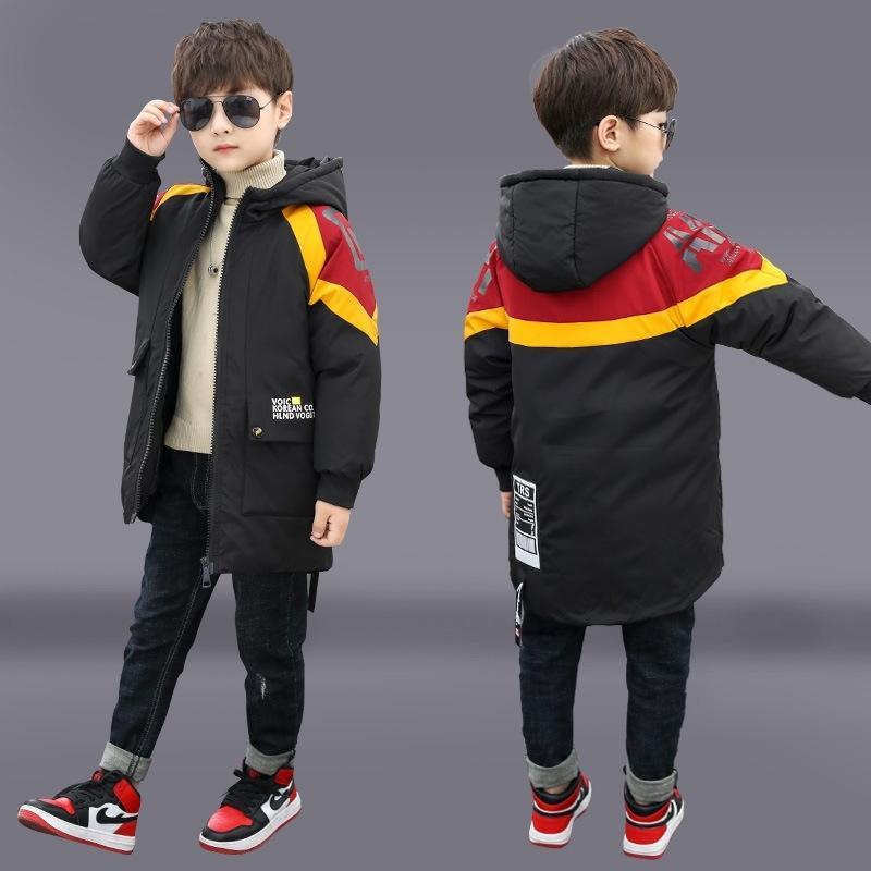 Детская зимняя куртка камуфляж большой меховой воротник детская одежда мальчик теплый хлопок куртка с капюшоном juvenil 201102