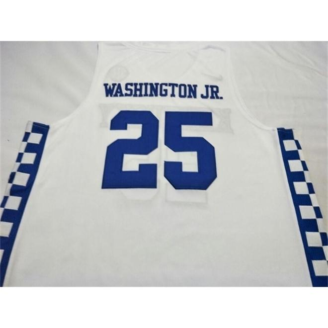age Kentucky Wildcats P.J. Washingtonn #25 basketball Full embroidery Size S-4XL or custom any name or number jersey