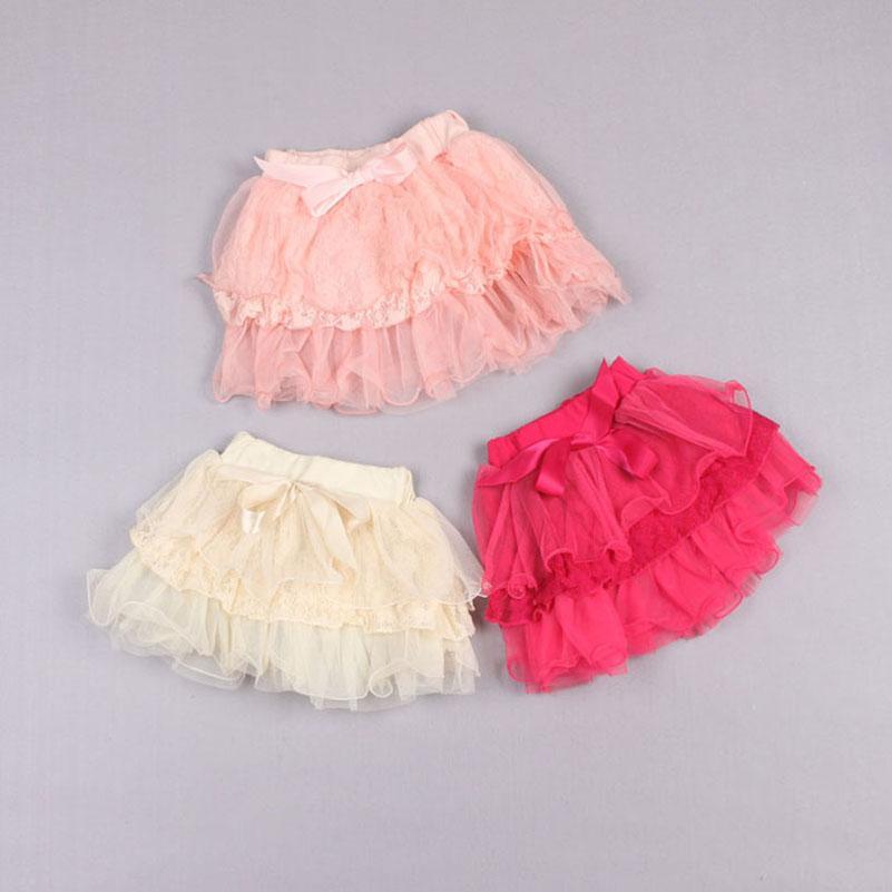 Liquidación Venta Faldas escalonadas Mini falda Baby Girls Faldas Tutus Falda plisada para niños Ropa para niños Encaje Princesa Faldas Bowknot Falda corta Z90