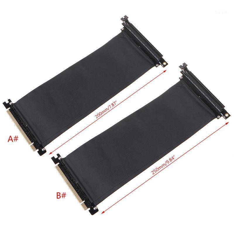 PCI Express PCIE3.0 16X до 16X гибкая кабель удлинитель кабелей адаптер порта 90 градусов Угол высокой скорости Удлинитель Riser Card1