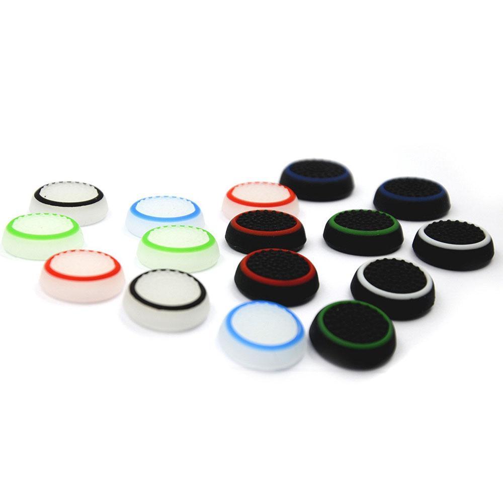 Custodia a doppia custodia per joystick con tappo a giglio in silicone a doppio colore Grip per PS4 PS3 Xbox One 360 Wiiu Controller DHL FedEx EMS Spedizione gratuita