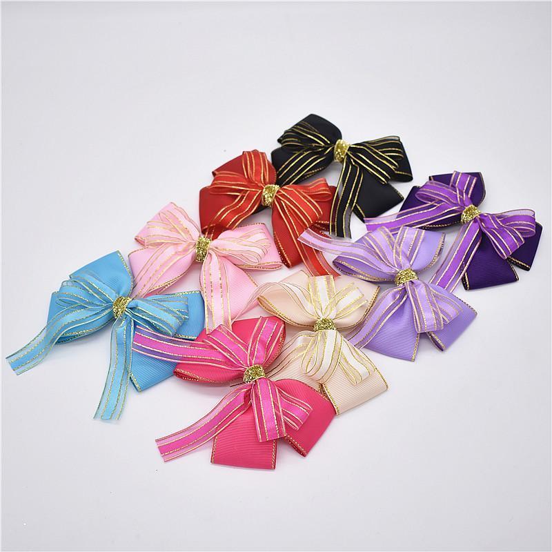Аксессуары для волос 1 шт. Мода Большие галстуки Луки Прикосновение Barnettes Детские Девушки Pin Детские Детские Покрытия Детские Молочные Цветочный клип