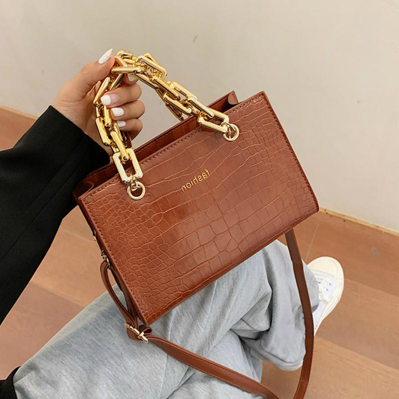 Bolsas de cadena de cuero de la cadena de la cadena de Crossbody para mini bolsos Hombro C1123 Pequeño Oro Messenger Bag Pattern Moneders Diseñador CJPCL
