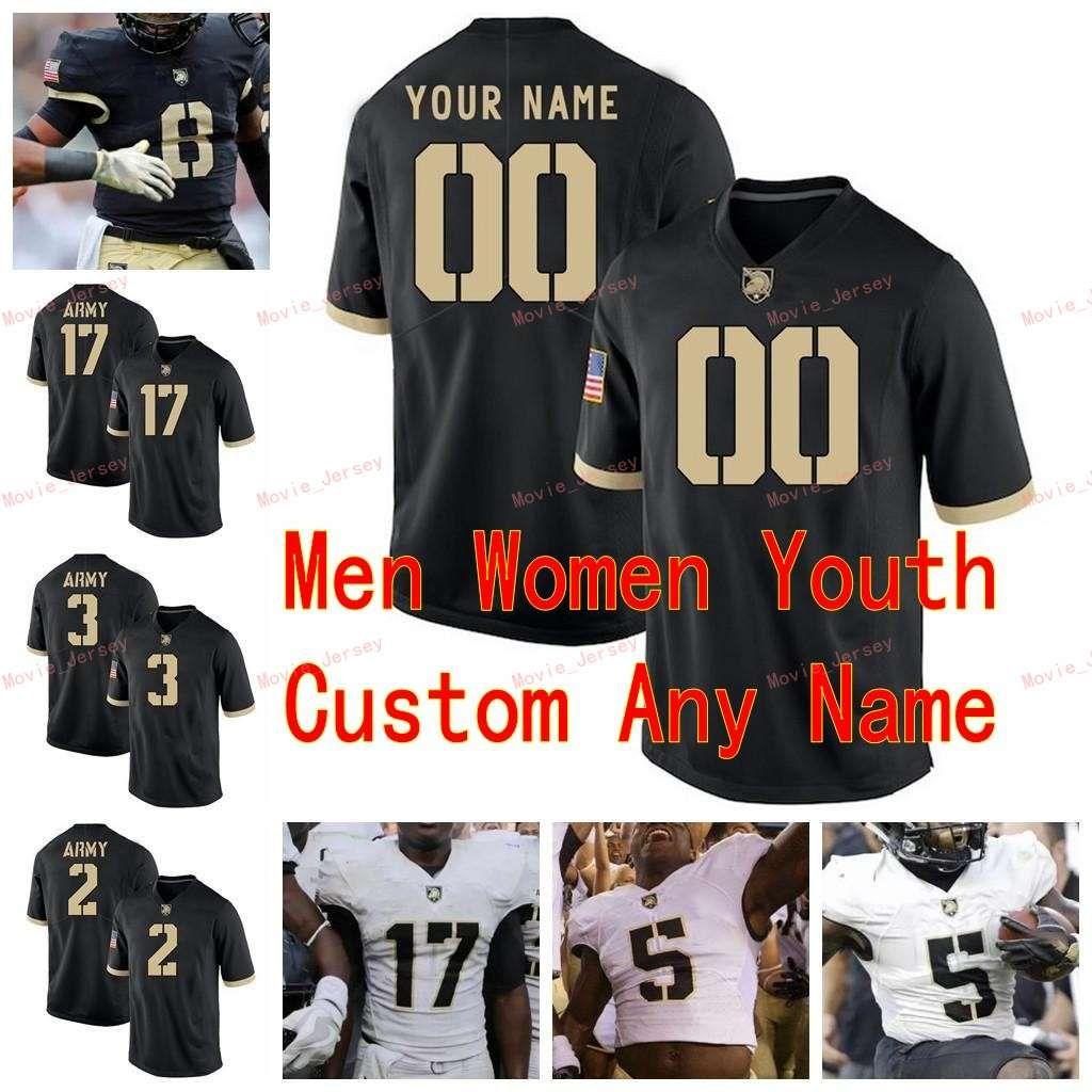 Costurado personalizado 23 Elijah riley 24 pete dawkins 25 connor slomka 3 arquírio preto cavaleiros negros faculdade homens mulheres juventude jersey