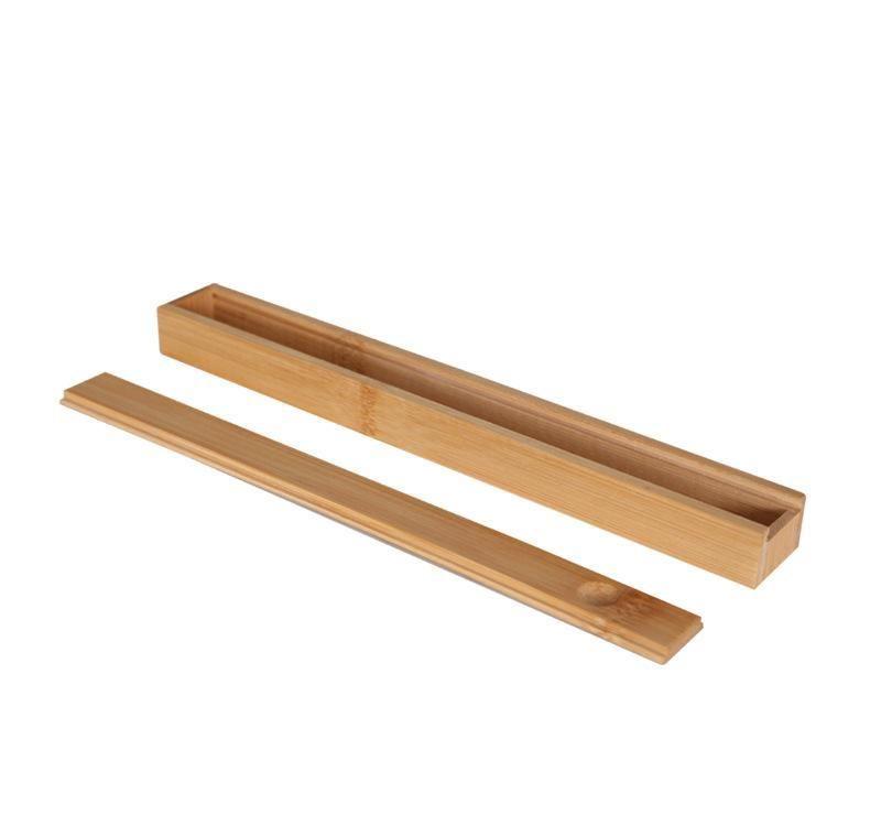 100 unids Portátil Natural Bambú Reutilizable Palillos Reutilizables Caja de almacenamiento Sushi Alimento Stick Palillos Caja Caja JllaOoop Sinabag