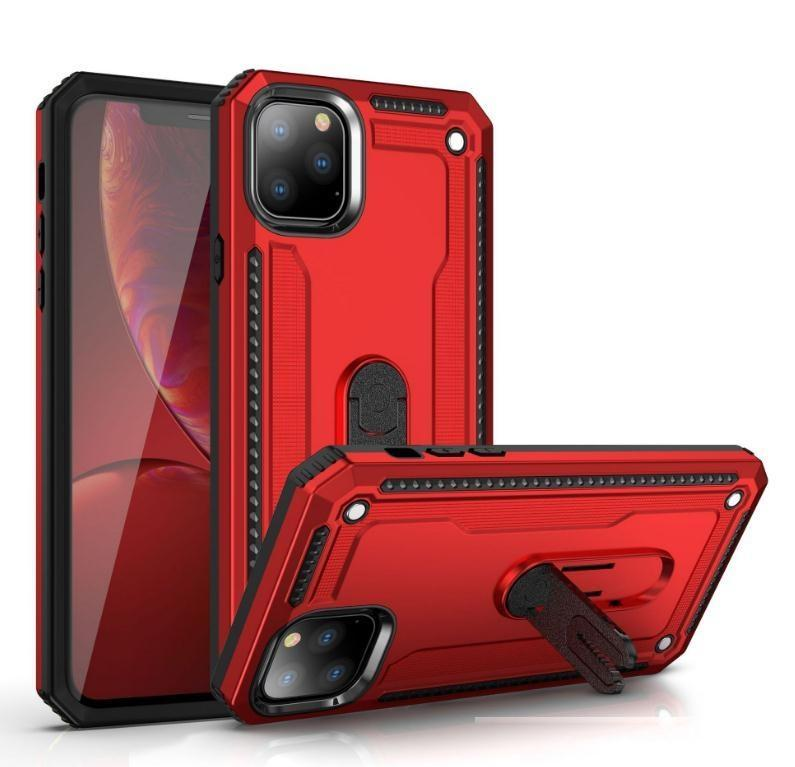 Per iPhone 11 Pro Max XS Max X 8 7 Plus Ibrido Defender Ibrida Antiurto Rugged TPU PC Dual Layer Case Custodia per cellulare Protettiva
