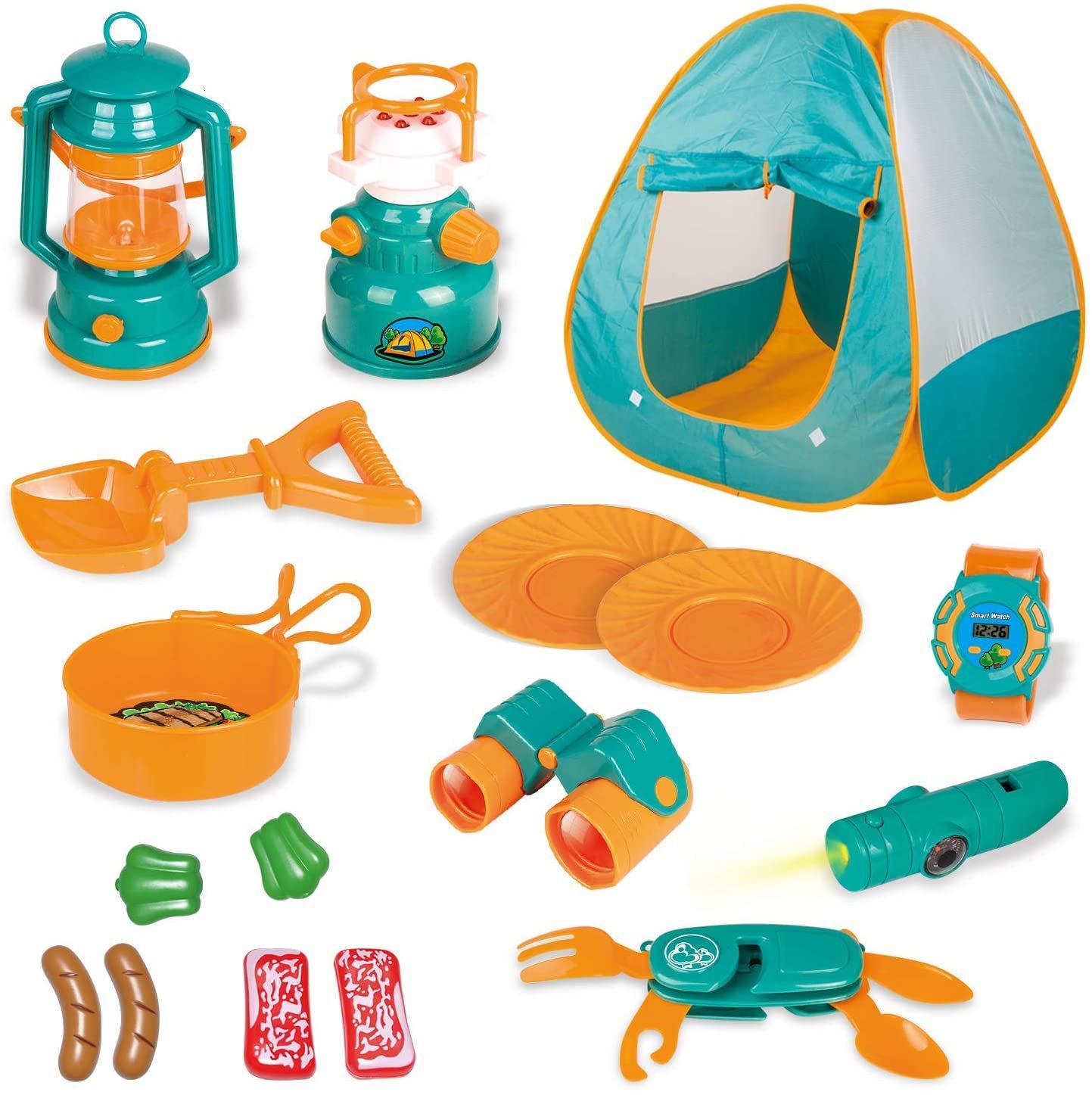Tente de camping pour pique-nique pour enfants Ensemble de loisirs en plein air Jeux à la maison Jeux d'enfants éducatifs