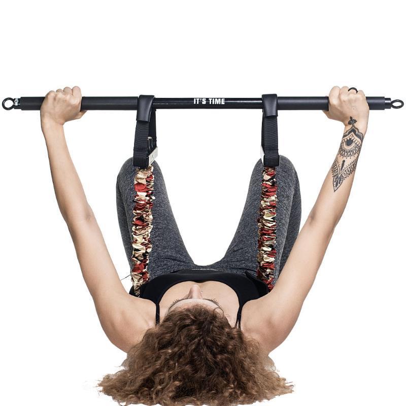 Регулируемый с железным бар резиновый толчок полосы вытягивает веревку для грудной клетки домой тренажерный зал мышечная сила тренировки