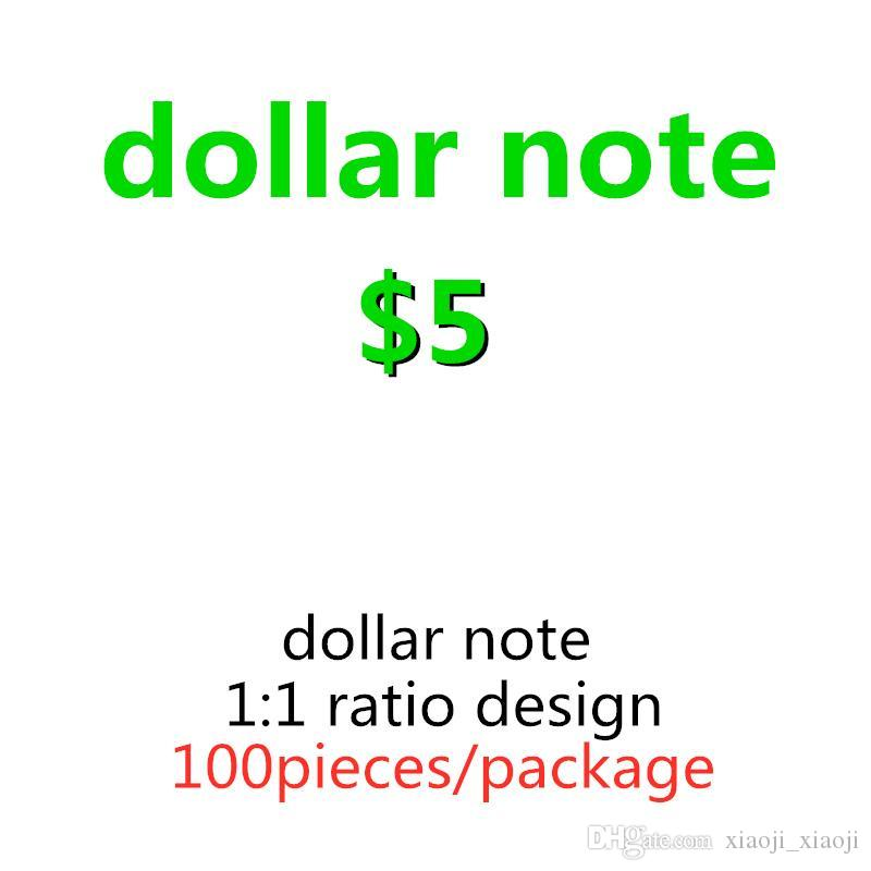Delivery Props Fast Faux Children US 5 Dollar Bills Prop Currency 24 Props 04 Currency Billet Game Simulation Euro Game Hours Currency Lmsm