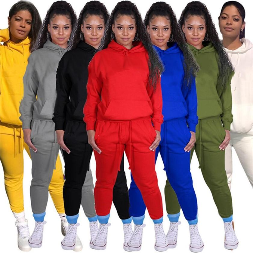 PLUS Taille Femmes Tracksuits SweatShirts + Leggings Jogger Support Two Piece Ensemble 3XL SweatSuit Sportswear Automne Hiver Hiver Sleeve Outfit 2390