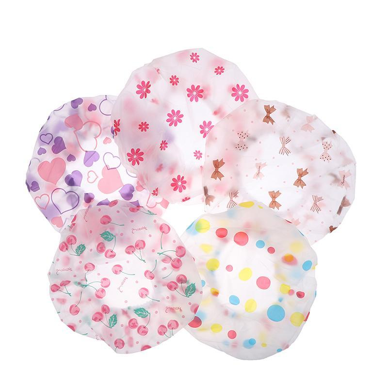 Venta tapa de ducha impermeable alto calidad salón de pelo elástico 1pc espesa para mujeres baño sombrero baño Products