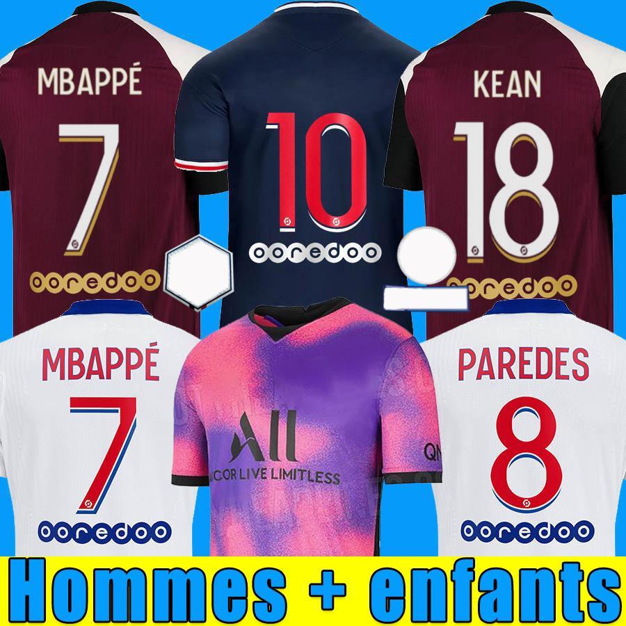 20 21 maillots de foot mbappe soccer jersey icardi أعلى تايلاند 2020 2021 كرة القدم قميص باريديس كيان camiseta de futbol الرجال الاطفال