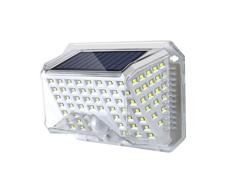 Lampada da giardino solare a LED LED Solar Street Lampione IP65 Autoapprovismo Sicurezza all'aperto Illuminazione 3 Modelli Controllo
