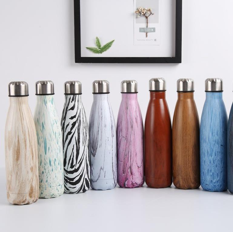 Bottiglia d'acqua 17oz perdite della bottiglia di forma della cola della bottiglia di forma della bottiglia del vuoto in acciaio inossidabile Bottiglia sottovuoto a doppia parete a vuoto tumbler
