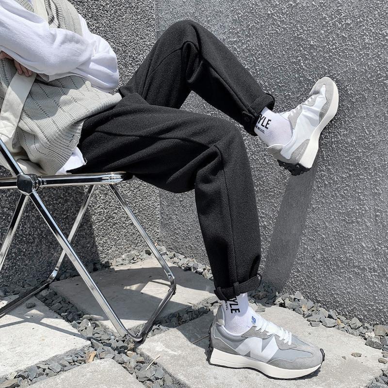 Pr Herbst Winter verdicken schwarze Wollhose für Männer 2020 Koreanische Männer Casual Harem Hosen Streetwear Man Hose