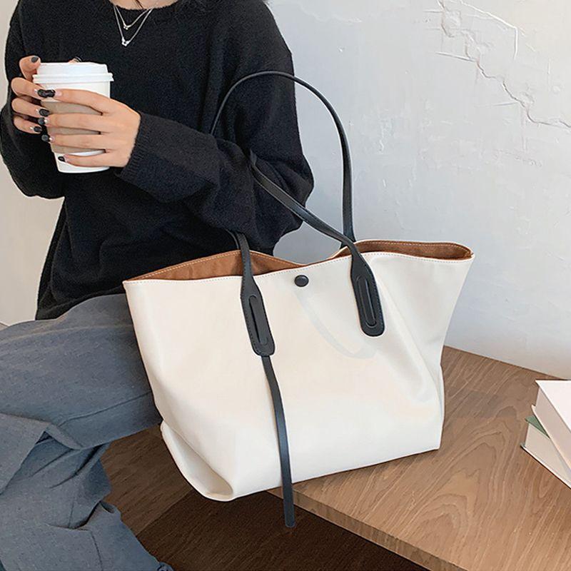 Casual Tote Large Capacity Women's Shoulder Bag Designer Sheep Solid Color Big Shopper Bag Fashion Women Handbag 2020 Purses New C0308