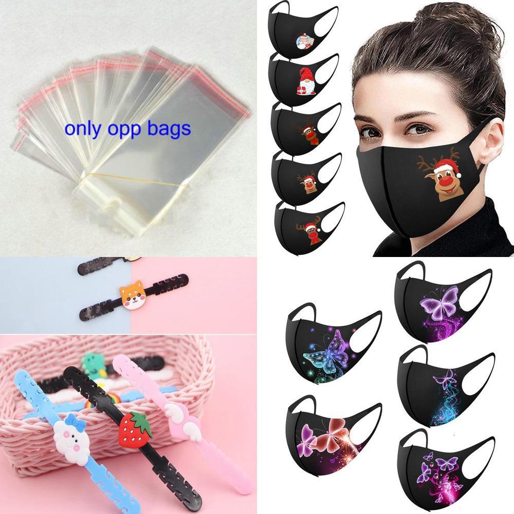 Masque imprimé Décoration réutilisable lavable pour le cerf adulte pour le visage de Noël Cosplay masque de Noël masque Coton Reutilisab01