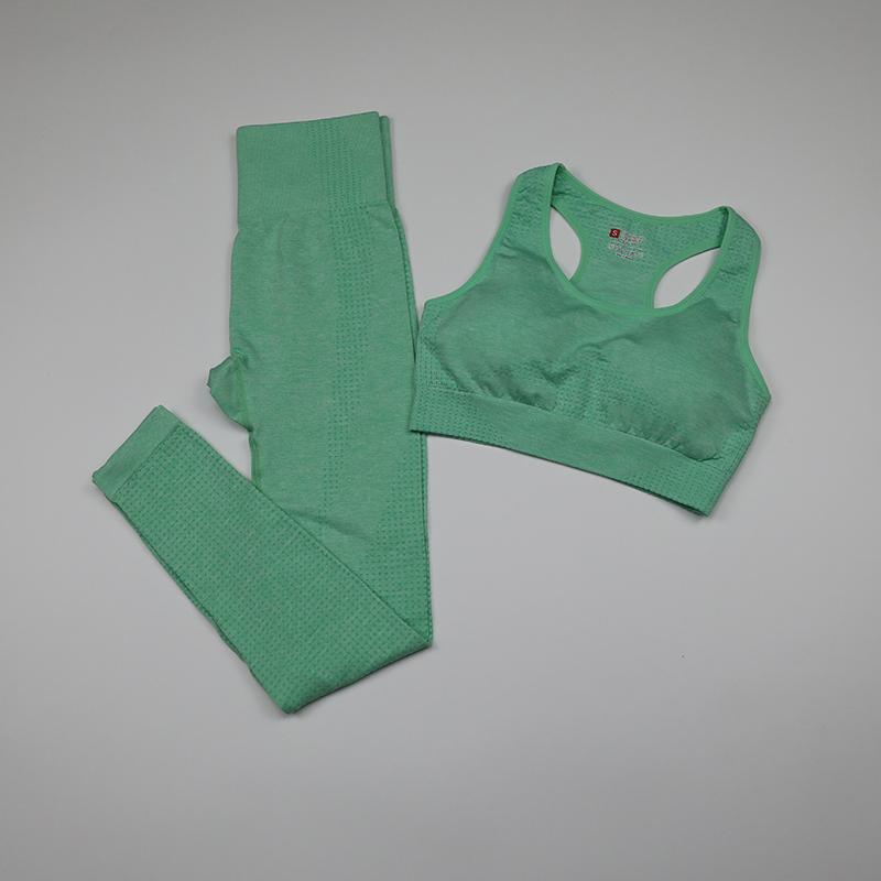 2 peças definir mulheres sem costura yoga set fitness roupas sportswear mulher vital ginásio leggings acolchoado push-up esportes sutiãs ternos Z1125